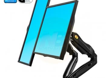 F160 זרוע דו מפרקית ארגומטרית לשני מסכי מחשב